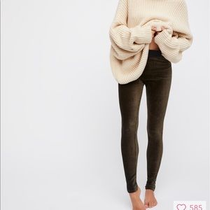 Free People Here We Go Again Velvet Legging